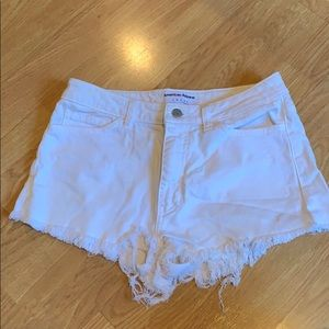 American apparel high waisted super short shorts